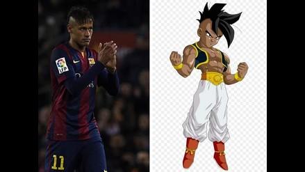 Comparan peinado de Neymar con un personaje de Dragon Ball