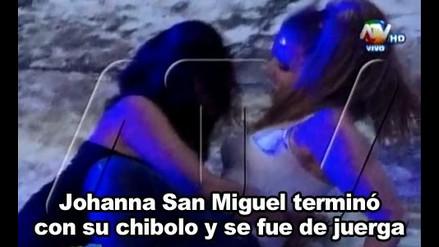 Johanna San Miguel termina con chibolo y mete un juergón