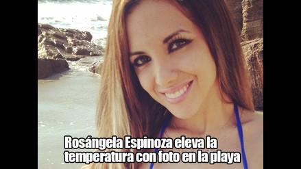 Rosángela Espinoza eleva la temperatura con foto en la playa