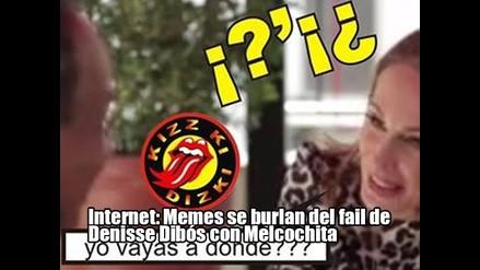Internet: Memes se burlan del fail de Denisse Dibós con Melcochita