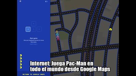 Internet: Juega Pac-Man en todo el mundo desde Google Maps