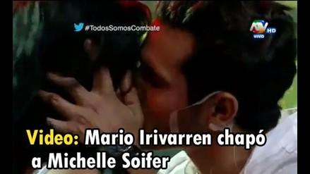 ¡Michelle Soifer y Mario Irivarren se dieron un beso!