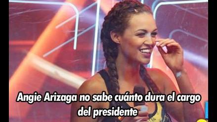 Angie Arizaga: guerrera no sabe cuánto dura el cargo de presidente