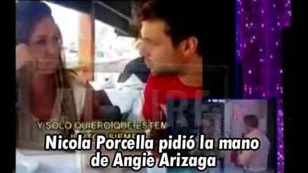 Nicola Porcella le pidió la mano a Angie Arizaga