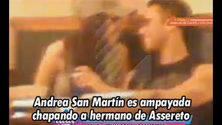 Andrea San Martín fue ampayada besando a hermano de Gino Assereto