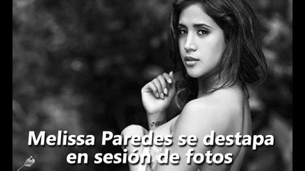 Melissa Paredes se destapó en sesión de fotos para revista