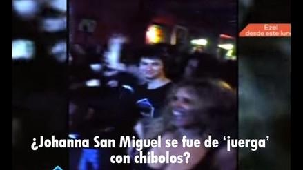 Johanna San Miguel: la conductora de EEG fue ampayada en un bar