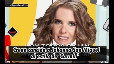 Johanna San Miguel: crean nueva canció para la ex conductora de Eeg
