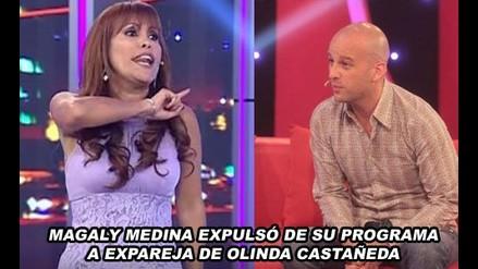 Magaly Medina botó de su programa a expareja de Olinda Castañeda