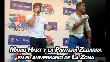 Mario Hart y la 'pantera' Zegarra en el aniversario de La Zona