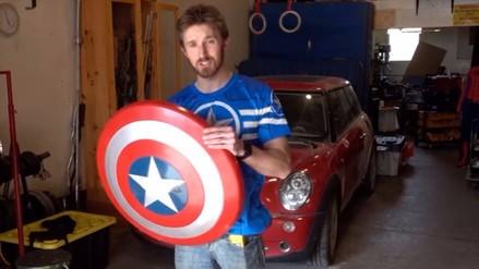 Capitán América: fan del superhéroe inventó un poderoso escudo