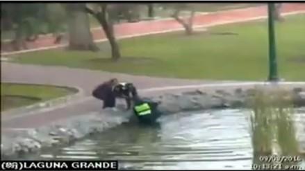 Hombre Cae a Laguna en El Olivar mientras jugaba Pokémon Go
