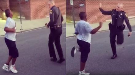 Facebook: Duelo de baile entre un adolescente y un sheriff se vuelve viral