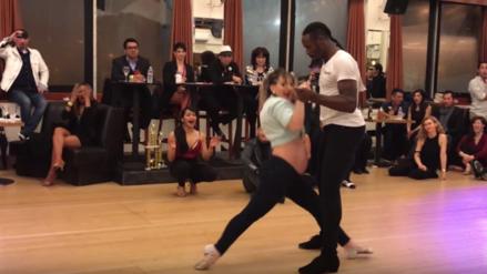 Facebook: Bailarina con siete meses de embarazo gana competencia de salsa