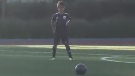 Instagram: Hijo de Cristiano Ronaldo anotó un gol de tiro libre