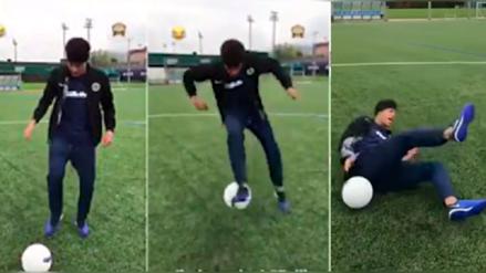Neymar intentó hacer una jugada freestyle pero algo salió mal