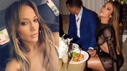 Instagram: Jennifer Lopez y su infartante vestido de cumpleaños