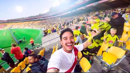 YouTube: Ingresó con con camiseta peruana a un estadio de Nueva Zelanda y esto pasó