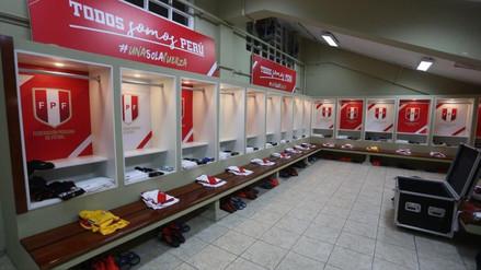 Perú vs. Nueva Zelanda: Así luce el vestuario de la selección peruana en el Estadio Nacional