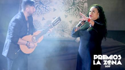 Así fue la presentación de Eva Ayllón en los Premios La Zona 2017