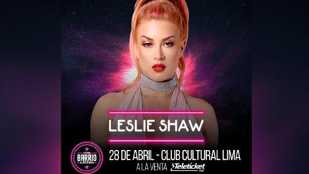 Leslie Shaw es la primera artista peruana en ser confirmada para Barrio Latino