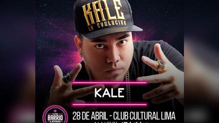 Kalé es el tercer artista peruano confirmado para Barrio Latino