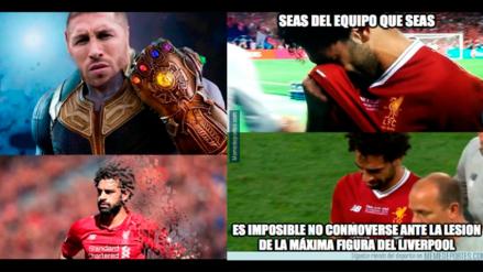 Champions League: siguen los memes de la falta de Ramos a Mohamed Salah