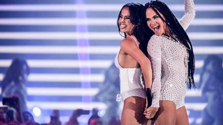 La sexy presentación de Becky G y Natti Natasha en Premios Juventud.