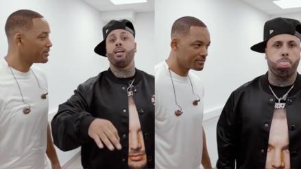 Nicky Jam le enseñó a cantar a Will Smith y así reaccionó el actor