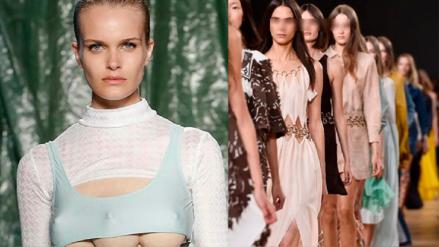 Modelos con 'tres senos' causaron sorpresa en una pasarela de Milán