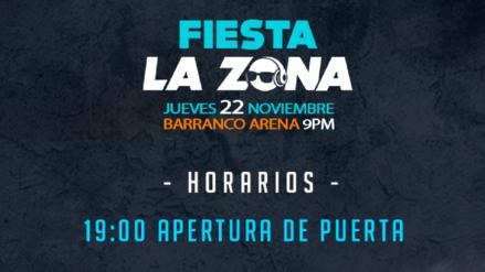 Fiesta La Zona: conoce el horario de presentación de tus artistas favoritos