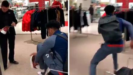 Instagram: Pedro Gallese se probó zapatillas y se fue corriendo