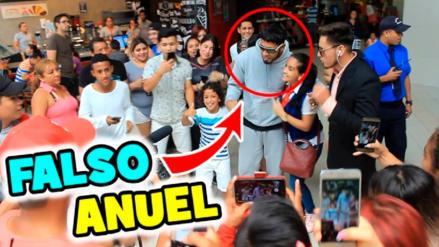 Falso Anuel AA sorprendió a los fans en un centro comercial