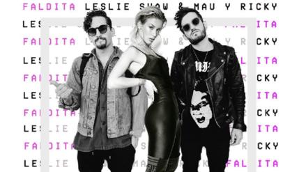 Leslie Shaw junto a Mau y Ricky alista estreno de 'Faldita'