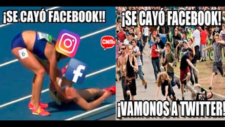 Todos memes por la caída mundial de Facebook, Instagram y WhatsApp