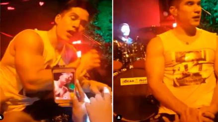 Video muestra cómo una fan le agarró sus partes íntimas a Chyno Miranda