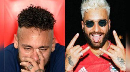 Neymar lloró porque perdió la copa de la Champions y Maluma celebró el éxito de su nuevo disco [VIDEO]