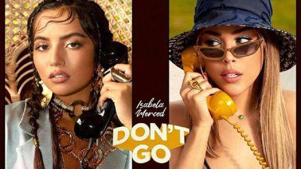 """Danna Paola presentó """"Don't Go"""" junto a Isabela Merced, cantante de raíces peruanas [VIDEO]"""