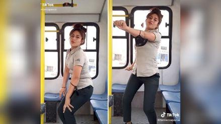 TikTok: Cobradora peruana es viral por sus videos bailando en bus [VIDEO]