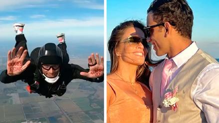 Said Palao le pidió a Alejandra Baigorria que sea su enamorada  desde un paracaídas [VIDEO]