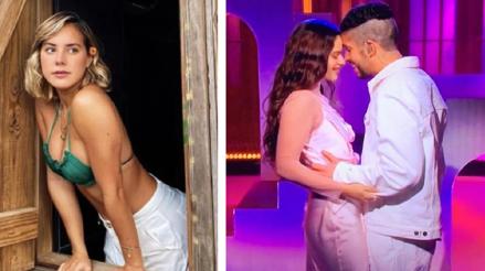 """Bad Bunny y Rosalía casi se dan un beso en la presentación de """"Saturday Night Live"""" y la novia del reguetonero reapareció [VIDEO]"""