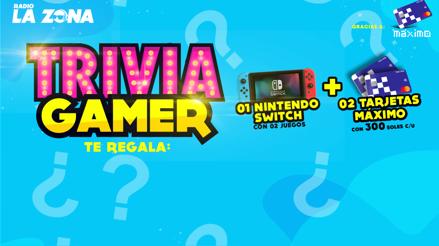 Gana un Nintendo Switch y dos Tarjetas Máximo por S/300 participando en Trivia Gamer
