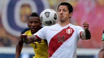 Gianluca Lapadula luego de meter un gol frente a Ecuador: