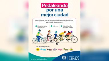 MML Organiza la Bicicleteada Pedaleando por una mejor ciudad promoviendo la movilidad sostenible