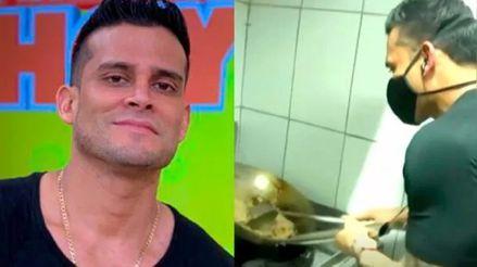 Christian Domínguez intenta preparar arroz chaufa, pero no enciende la cocina