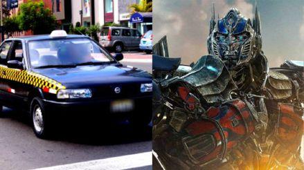 Transformers: 'Optimus Prime' chocó con un taxi en Cusco
