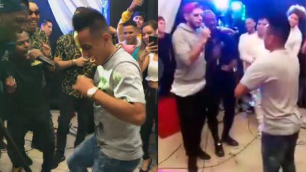 Cuevita y sus mejores movimientos de cintura en la fiesta de Carlos Zambrano