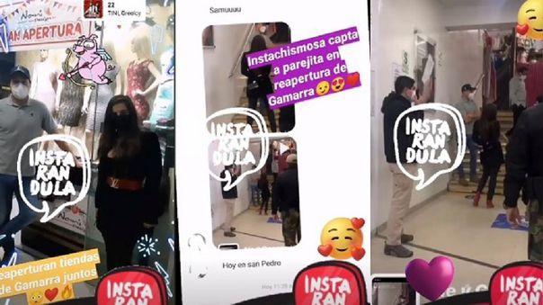 La página de Instagram, Instarándula, publicó imágenes de Alejandra Baigorria y George Forsyth.