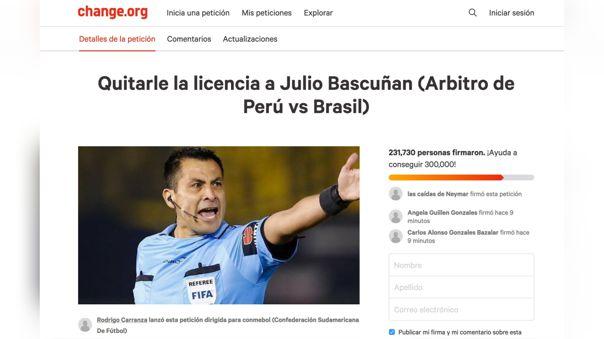 Esta petición va dirigida a la Confederación Sudmericana de Fútbol (Conmebol).