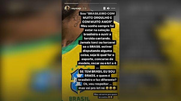 Neymar está muy enojado con los hinchas brasileños que quieren que Argentina gane la Copa América 2021